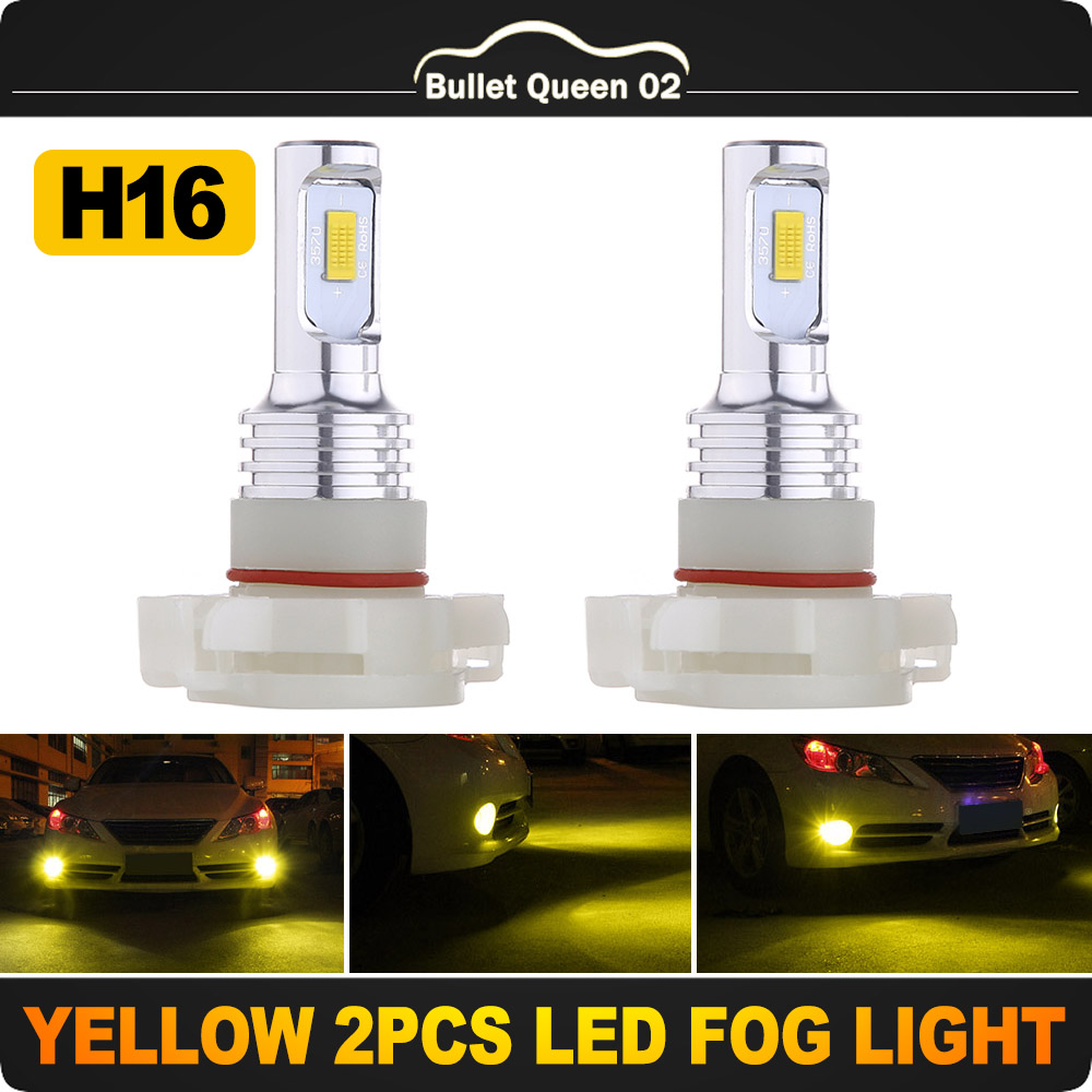 80W 8000LM 5202 H16 4-Sides LED Fog Light Conversion Kit 6000K Xenon White Bulbs Auto Parts & Accessories