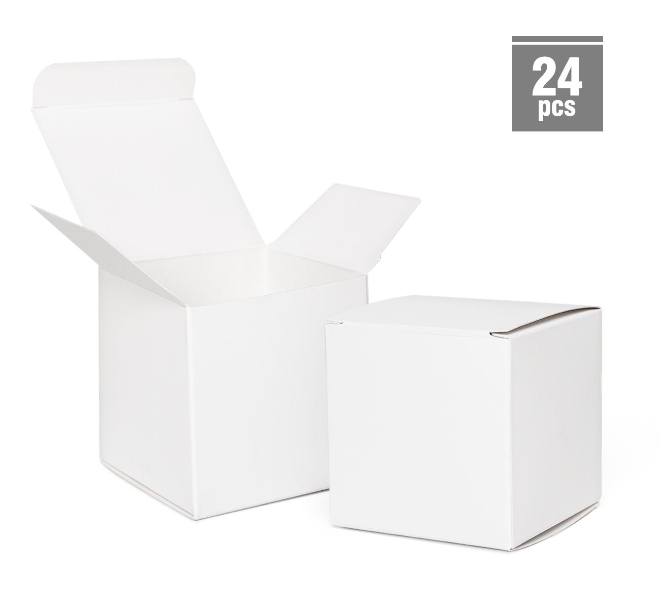 Geschenkboxen Hochzeit mit Aufkleber Gastgeschenke Box Adventskalender 24 Stk