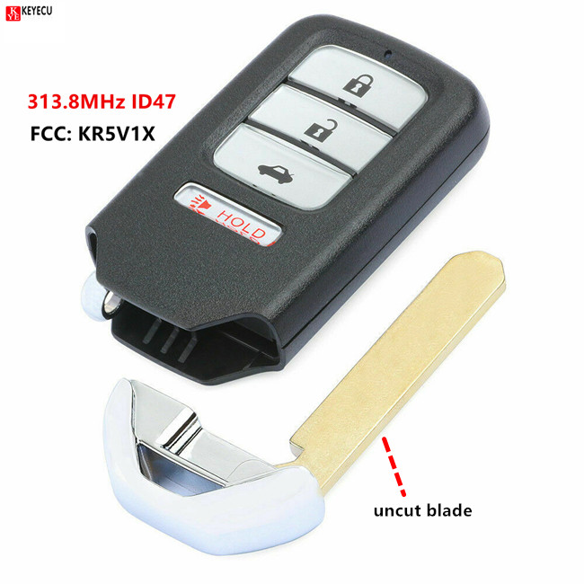 Replacement Remote Key Fob 4B 313.8MHz ID47 For Acura MDX