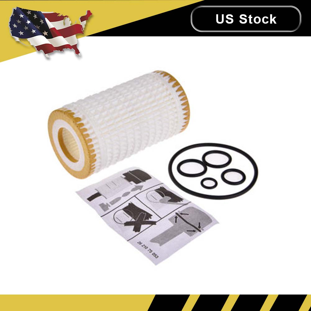 Quality Engine Oil Filter W Gaskets For Mercedes Benz C Cl Clk Cls Fuel 1998 C4 3 0001802609