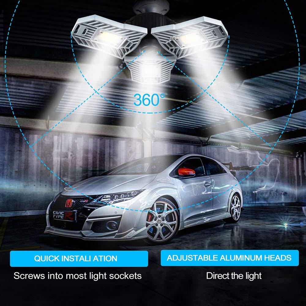Best Garage Lights Led Shop Utility Ceiling 60W 6000LM ...