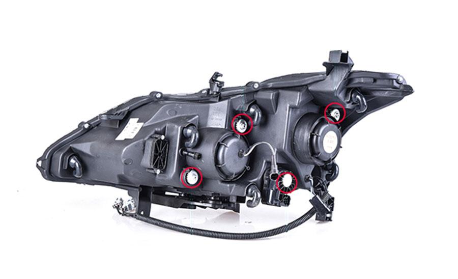 2pcs For Nissan Altima Headlights Assembly Bi Xenon Lens