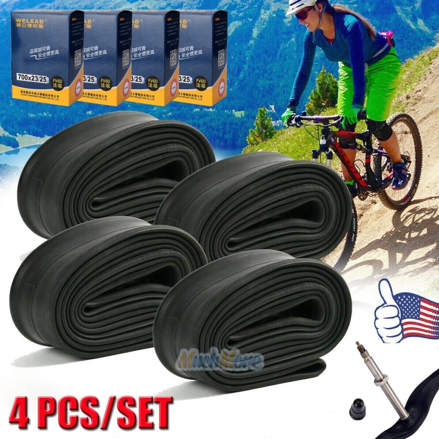 Valve Road Cycling Bicycle Bike Inner Tube Wheel Tire Rubber 700*23C Presta