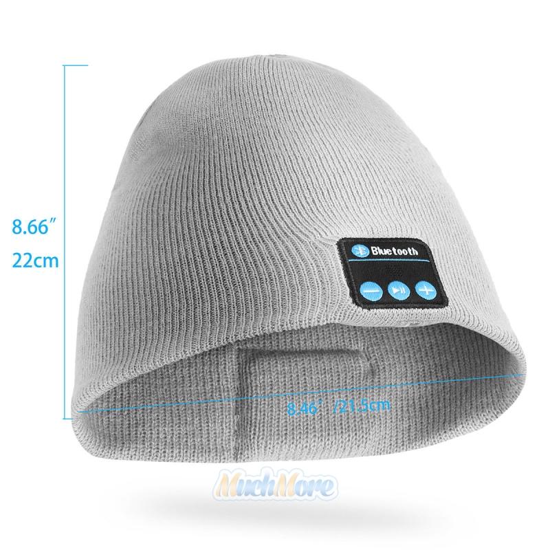 Winter Beanie Hat Wireless Bluetooth Smart Cap EDR Headphone Headset Speaker Mic