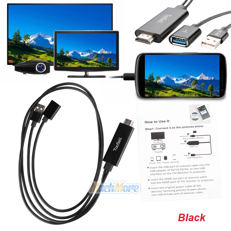 Details about USB MHL To HDMI 1080P TV Adapter Cable HD For Samsung Galaxy  S8 S7 iPhone 8 7 6