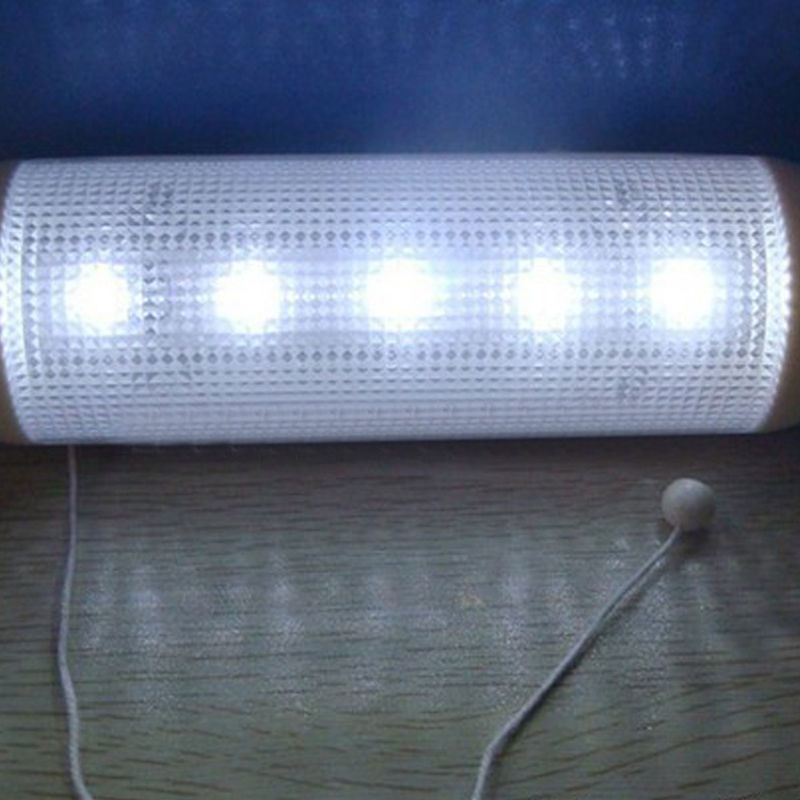 Solar Powered LED Shed Light Wall Indoor Pull Lamp