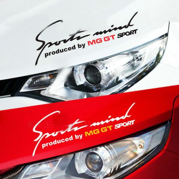 Adhesive Vinyl Sports Mind Car Sticker Auto Eyelashes Decal Emblem