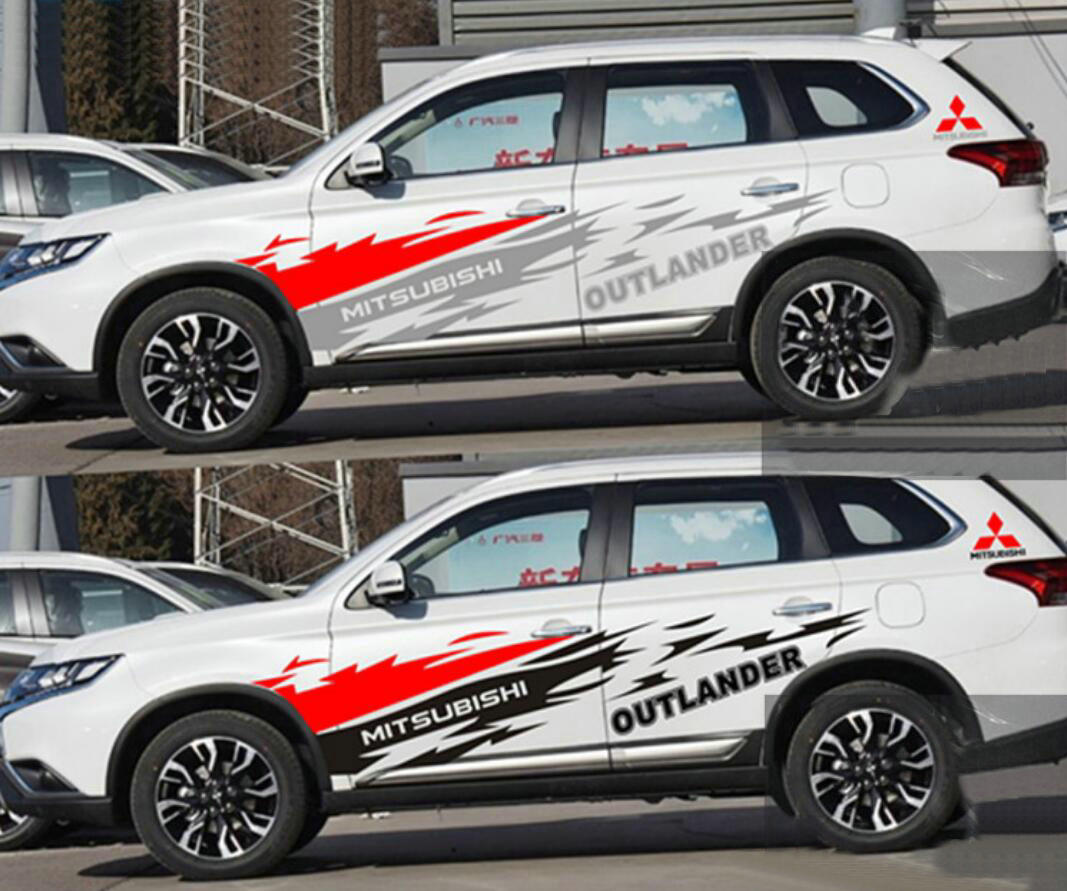 Graphics Car Sticker Waist Line Decal Fit For Mitsubishi ...