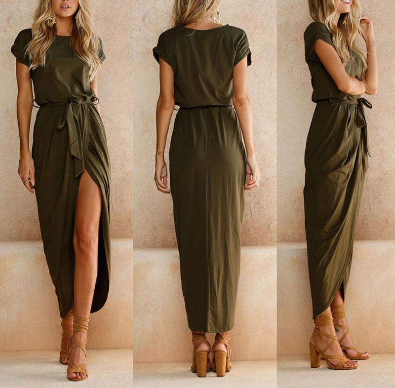 Details about Women Summer Boho Casual Long Maxi Evening Party Cocktail Beach  Dress Sundress 62db38eca835