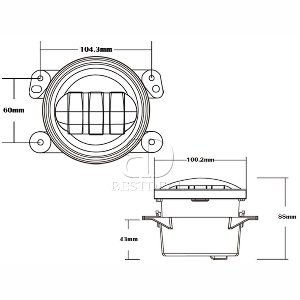bestdeal cree led 7 u0026quot  headlight   4 u0026quot  white halo fog light combo for jeep wrangler 661708905914