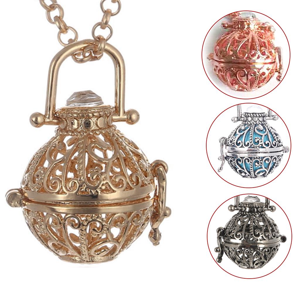 Flower Aromatherapy Diffuser Necklace Essential Oil Locket Vesuvianite US Stock