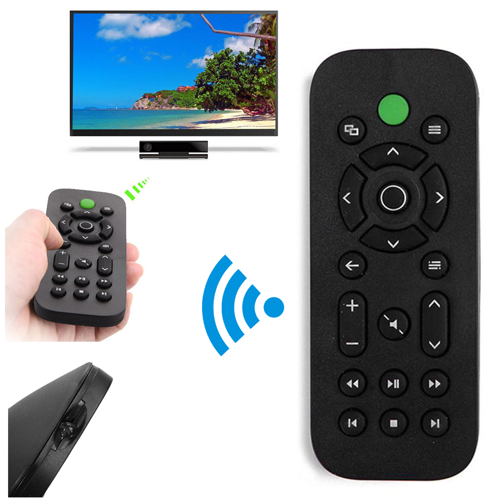 Details about Black Media Remote Control Player Entertainment For Microsoft  Xbox One Console