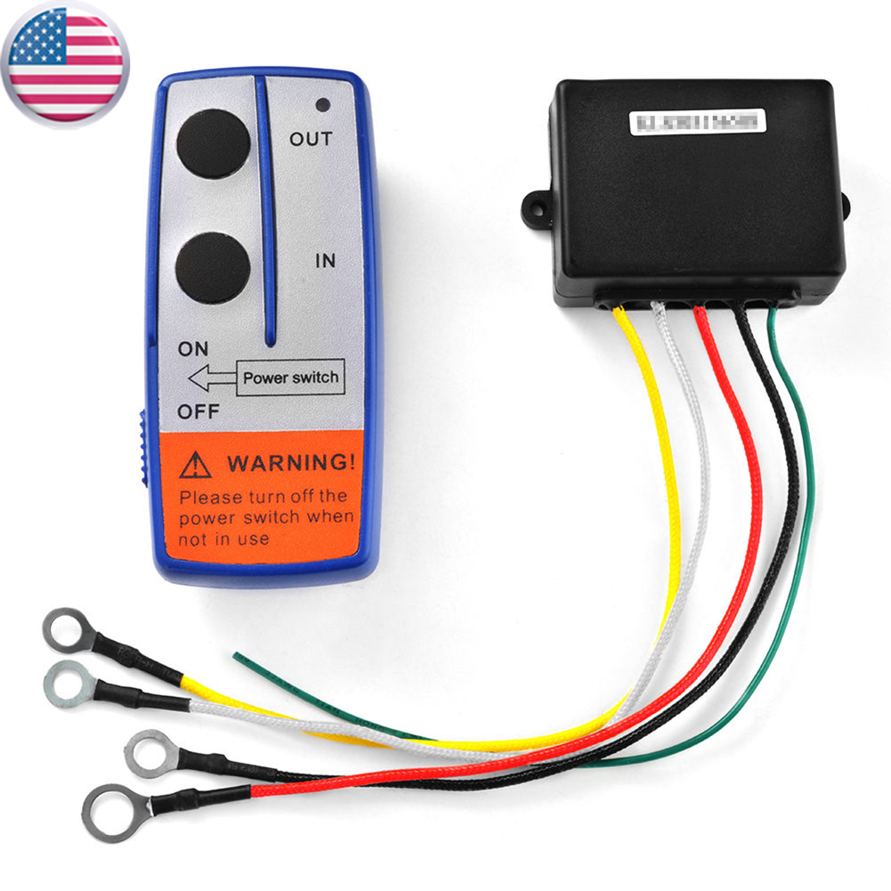 Generic 3pcs Wireless Winch Remote Control Kit 12V Handset Switch Controller for Cat Truck ATV SUV Repair