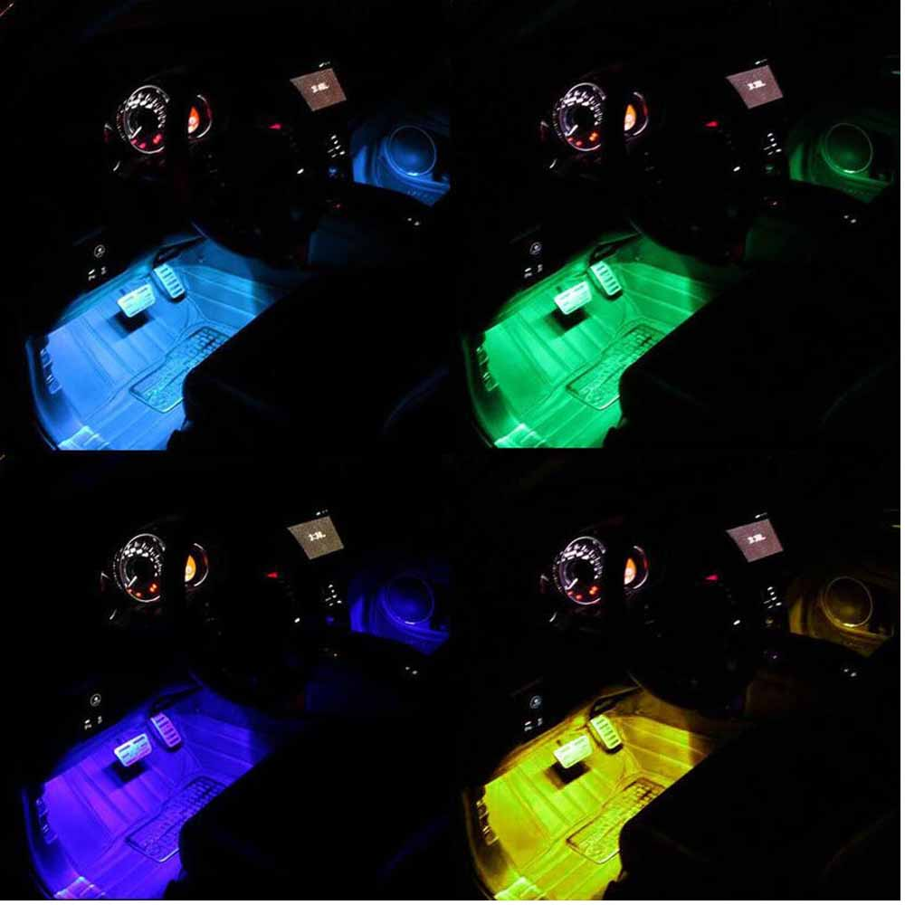 4 X 12 Led Car Decorative Lights Interior Foot Mood Light With Phone App  Control
