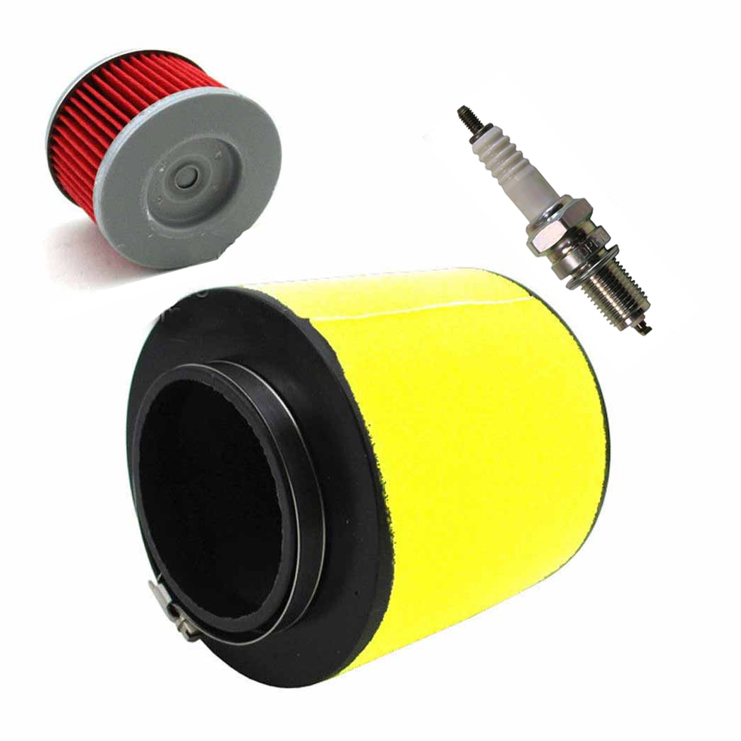 New Air Filter Replacement Honda Rancher 350//Foreman 400 /& 450 1992-2000 Fourtrax 300 Included Oil Filter /& Spark Plug
