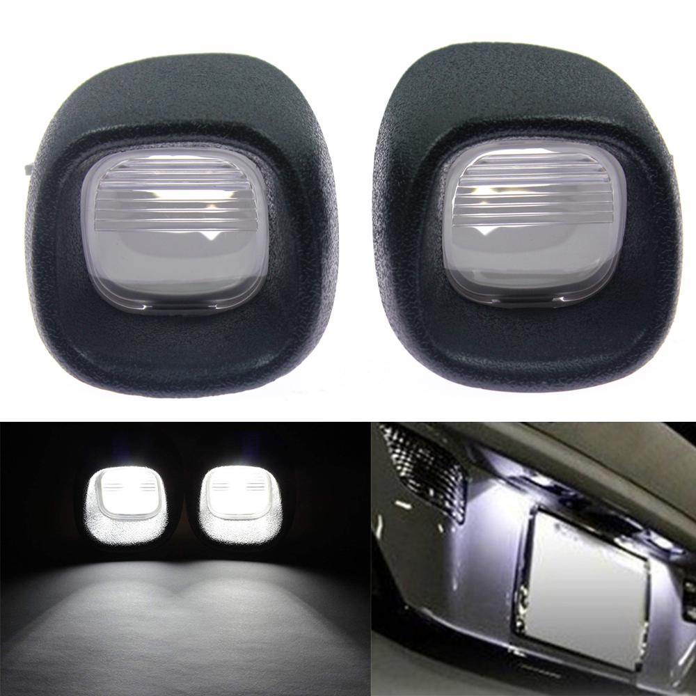 Pair License Plate Light Rear Lamp Lens for Blazer S10 Pickup Jimmy S-15 Sonoma