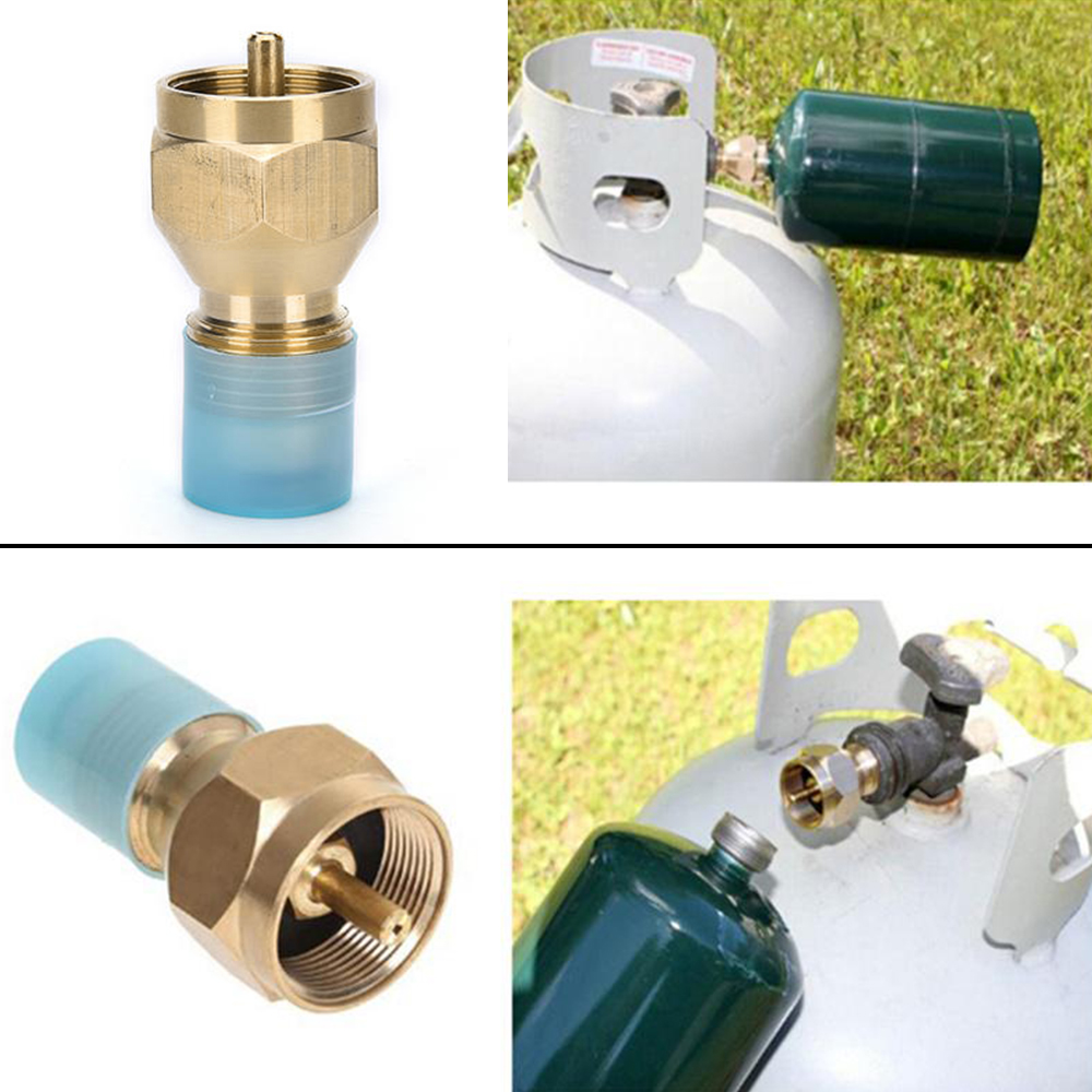 HOT HEAVY DUTY Propane Refill Adapter Lp Gas Cylinder Throw Away Tank Coupler DE