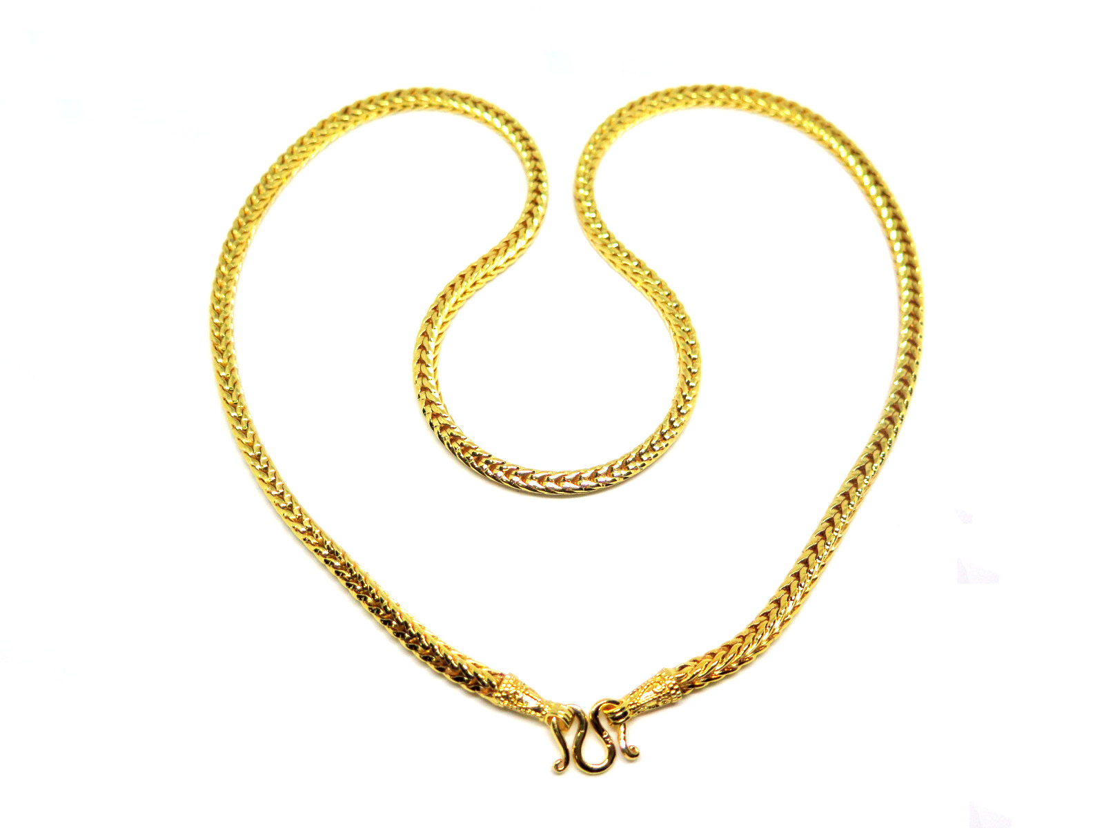 c50fcd55d7452 New gold necklace high quality jewelry handmade yellow gold JPG 1600x1200 24k  gold necklace