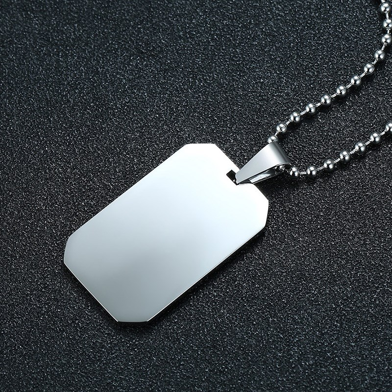 Details about Stainless Steel Army ID Dog Tag Military Pendant Chain Silver  Vouge Necklace W51