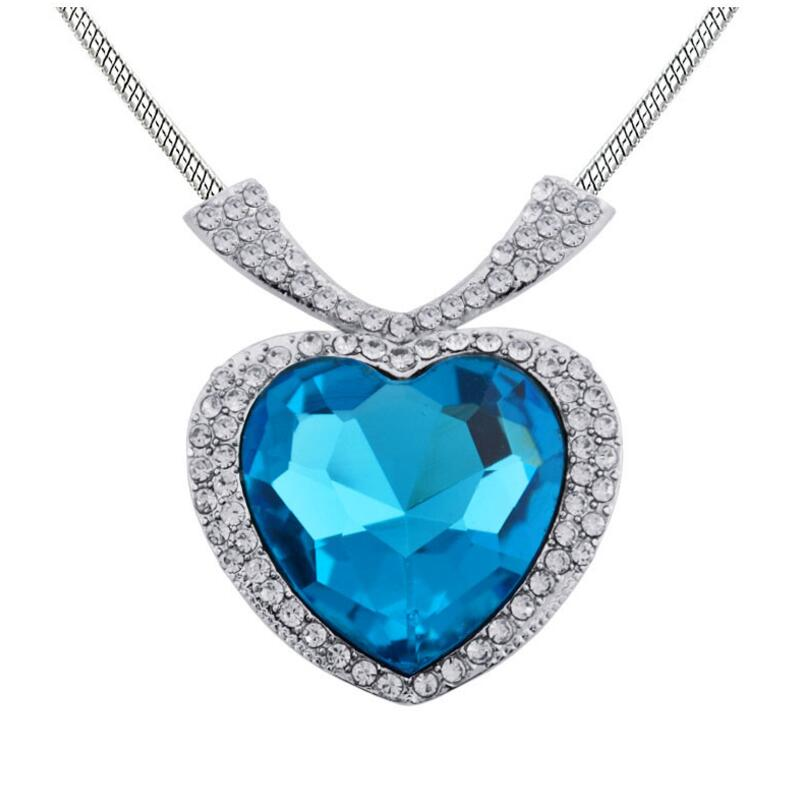 Fashion titanic pendant jewelry crystal large sea heart silver fashion titanic pendant jewelry crystal large sea heart aloadofball Image collections