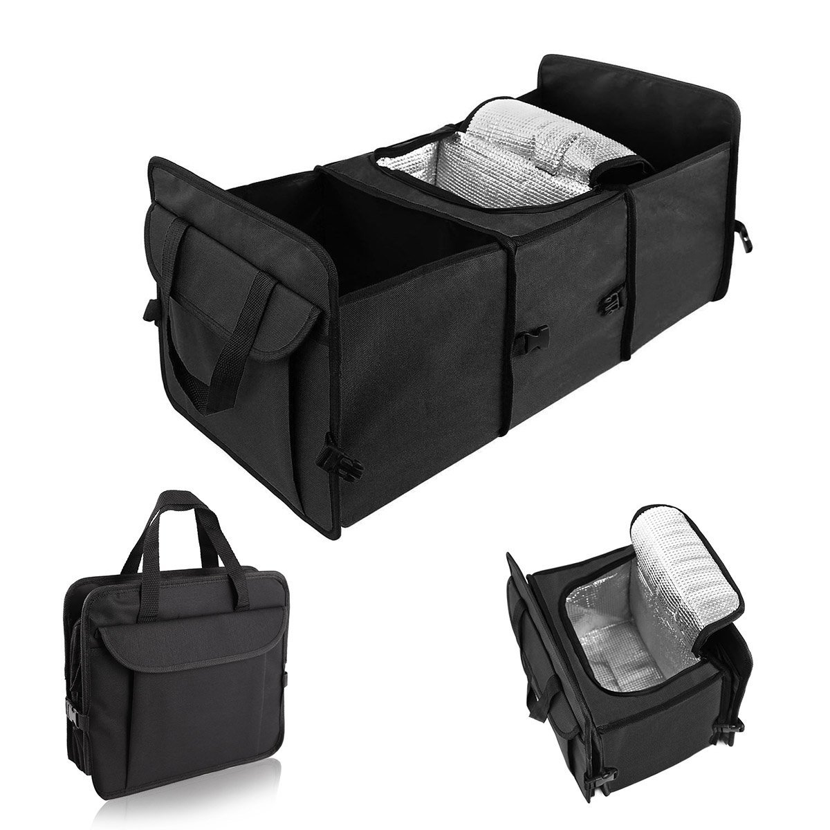 266e458b3980 Details about New Car Trunk Organizer Cooler Storage for Auto Front & Back  Seat Collapsible