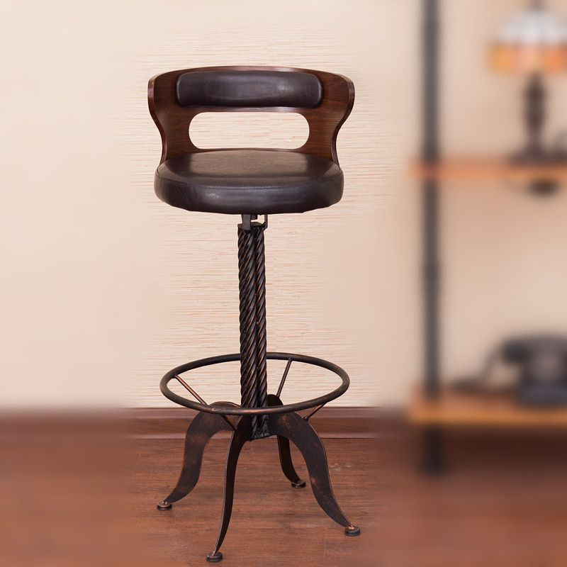 Details about RUSTIC INDUSTRIAL RETRO VINTAGE METAL KITCHEN COUNTER CHAIR  BAR STOOL BACKREST