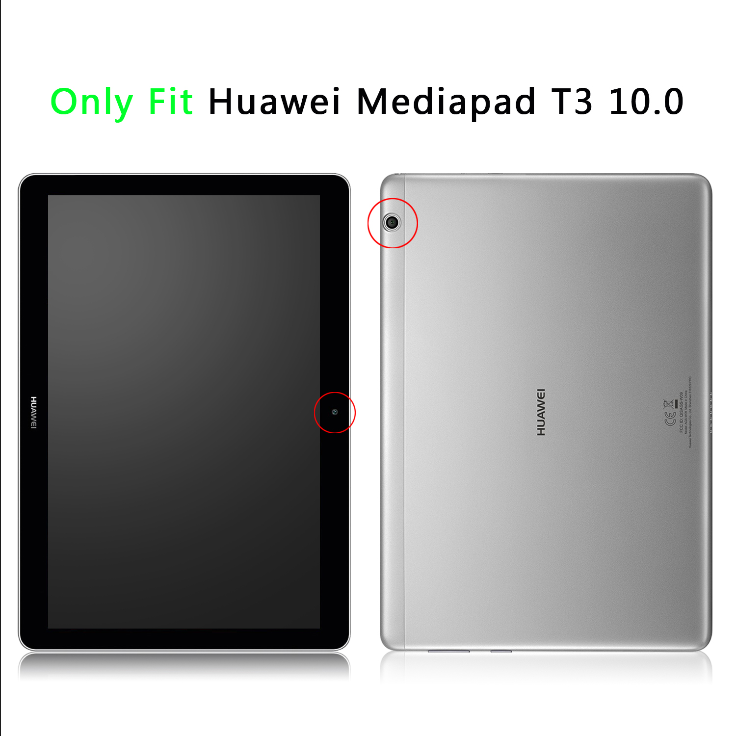 flip slim book stand leather cover for 9 6 huawei mediapad t3