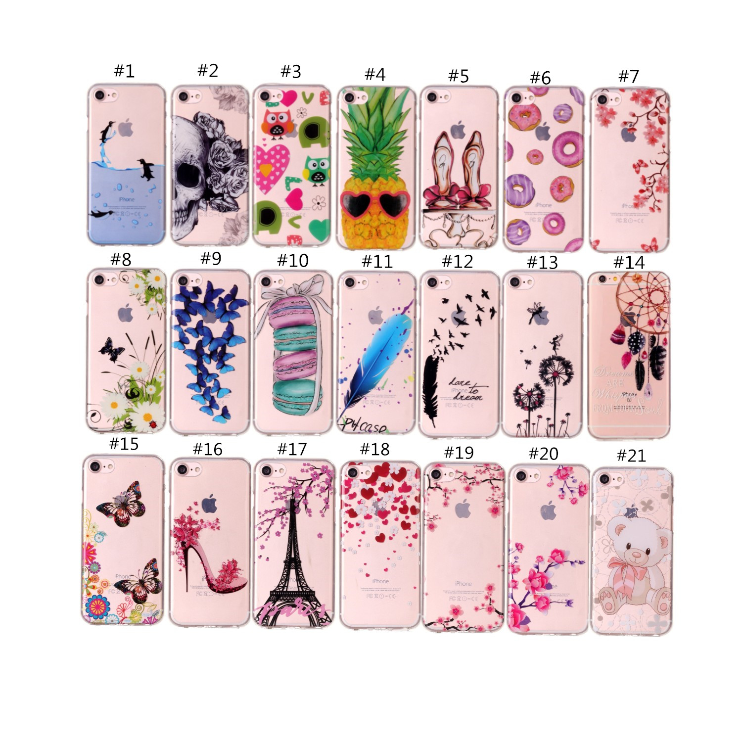 Pretty Printed Soft TPU Cover For iPhone SE 6 7 8 Plus X iPod Touch 5th&6th