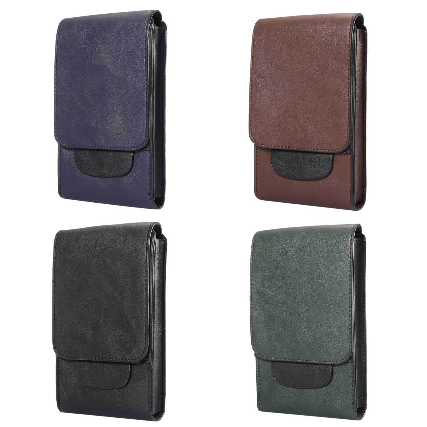 the best attitude 162c3 0dd46 Details about Mobile Phone Holder Leather Case Cover Waist Hang Belt  Holster Clip Pouch Sleeve