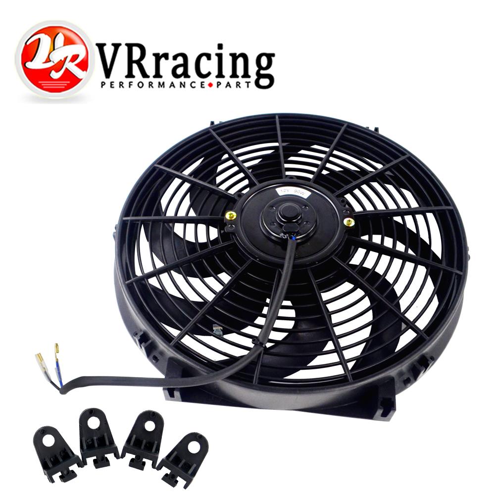"14/"" inch Universal Slim Fan Push Pull Electric Radiator Cooling 12V Mount Kit"
