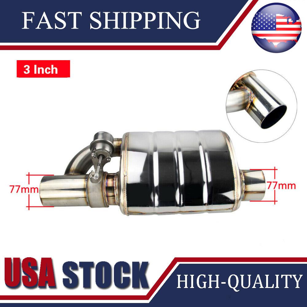 3 Slant Outlet Tip 3 Inlet Stainless Steel Weld On Single Exhaust Muffler Set Motors Car Truck Mufflers Gantabi Com