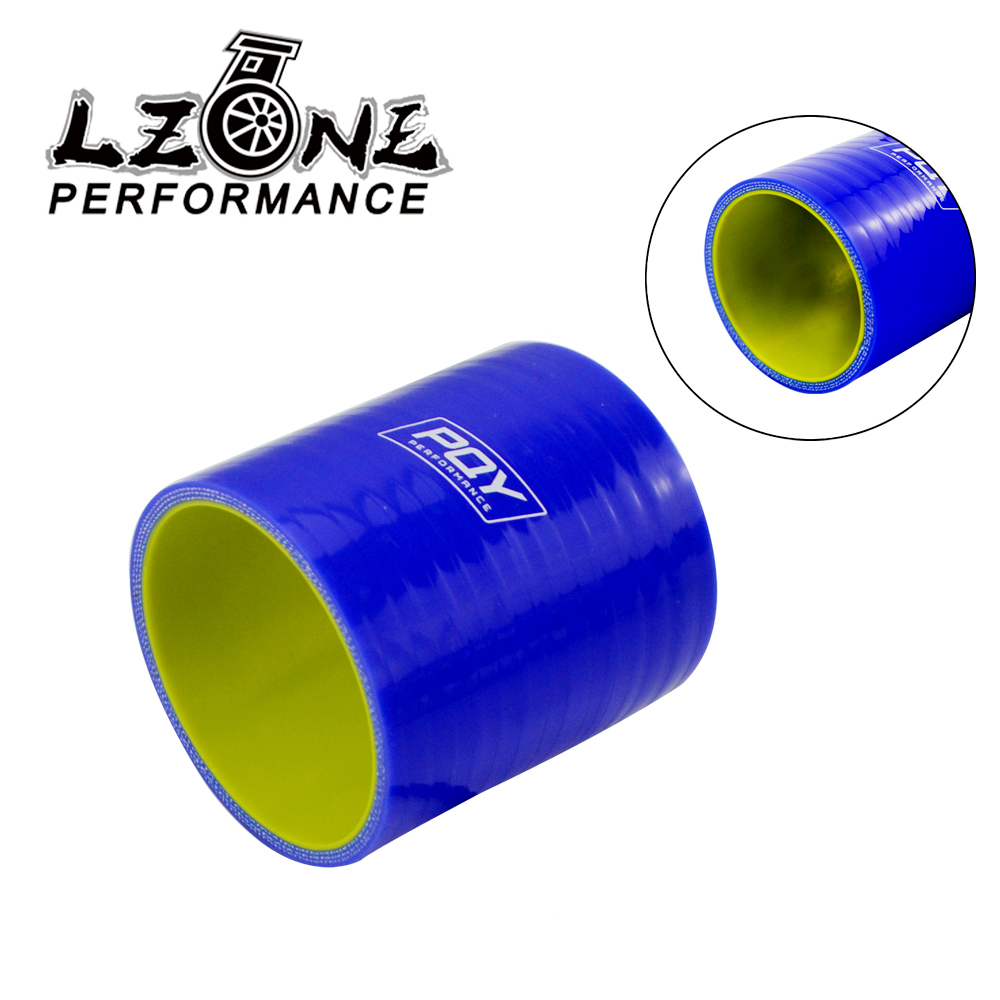 """2.5/"""" Silicone Hose//Intake//Turbo//Intercooler Pipe Straight Coupler Connector BLUE"""