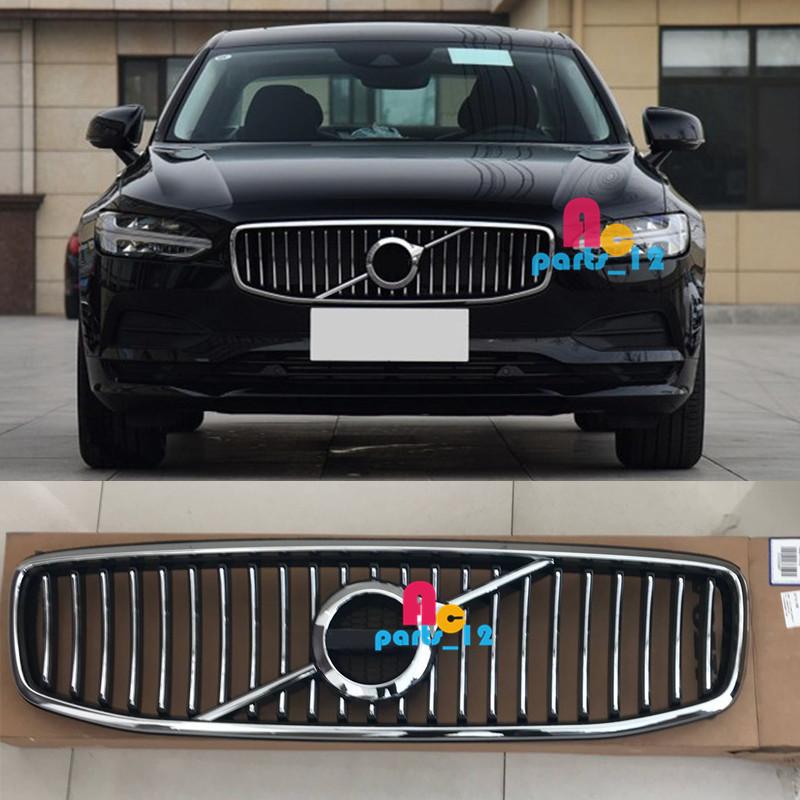 OEM Chrome Front Bumper Upper Grille Radiator Insert For VOLVO S90 V90 2016-2019