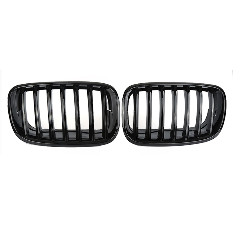 Matte Black Front Hood Bumper Kidney Grille Grill For BMW X5//X6 F15//F16 2014-18