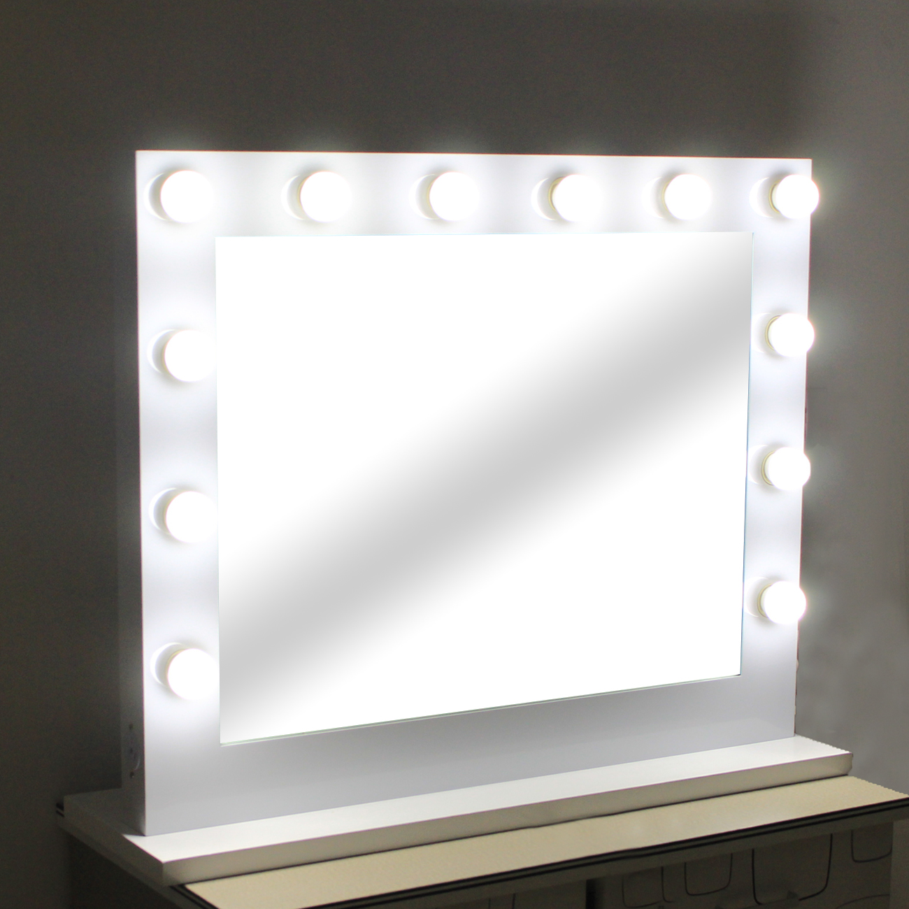 Hollywood Makeup Mirror. Large Hollywood Makeup Tabletop Mirror Vanity Mirror with Light