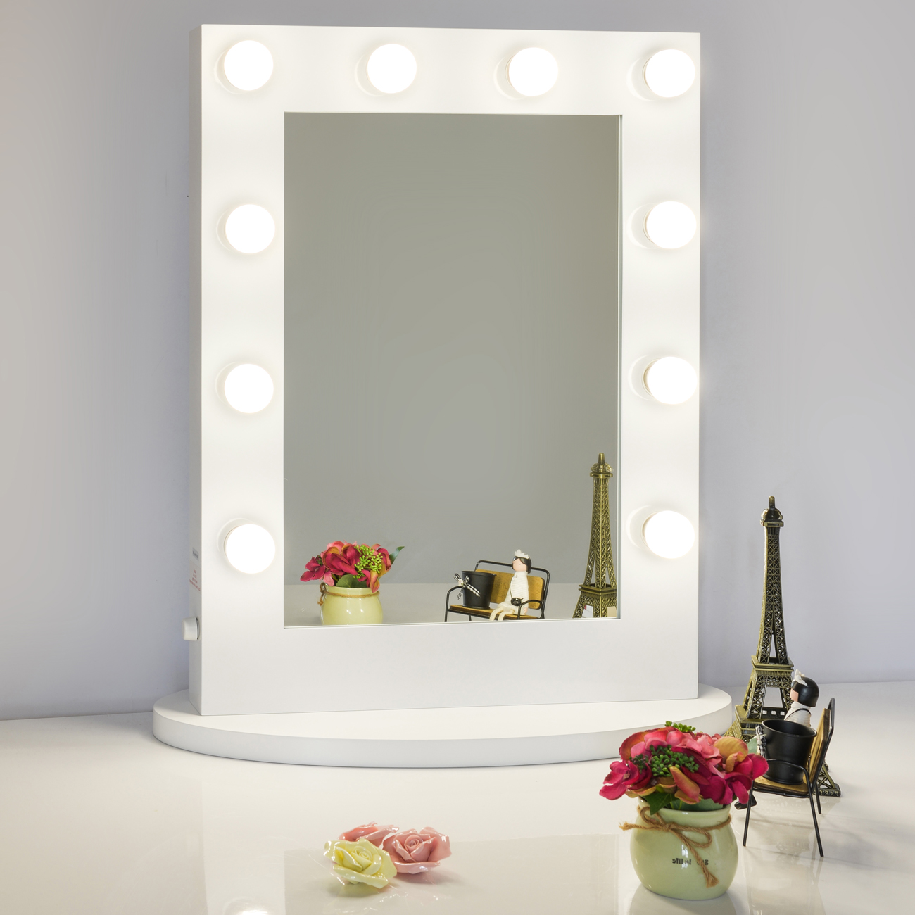 Details About White Led Hollywood Light Dressing Table Vanity Make Up Mirror Bathroom Wall Uk