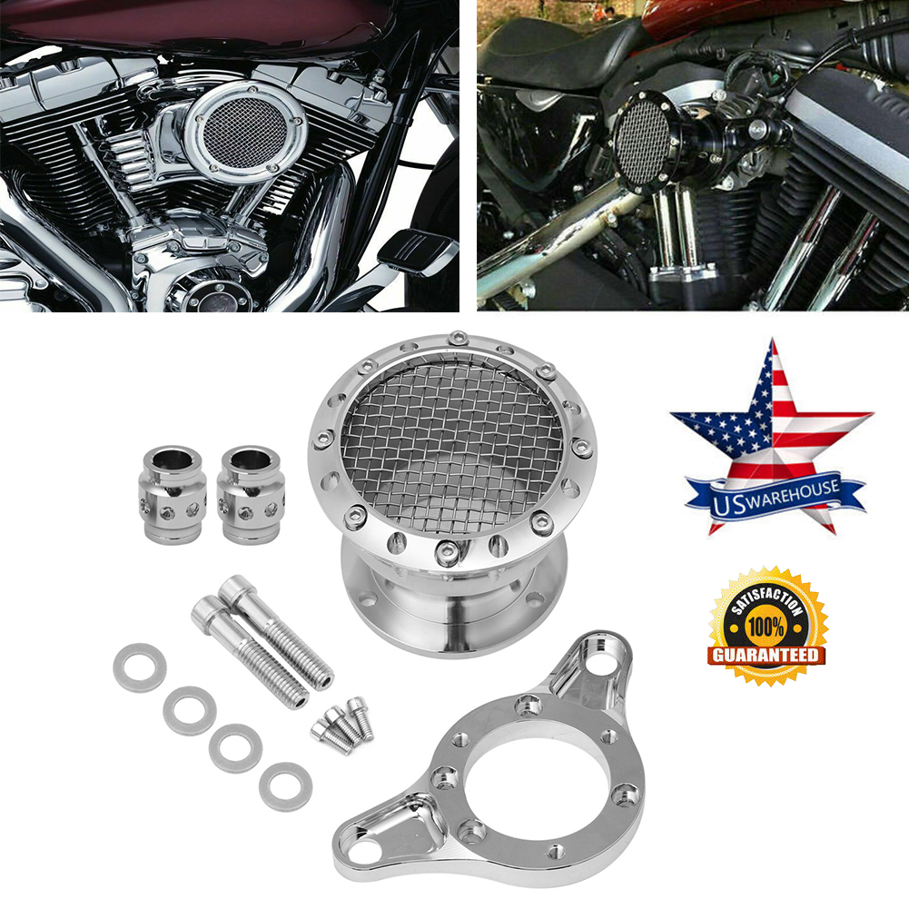 Black CNC  Air Cleaner Intake Filter Kit For Harley Sportster XL 883 1991-2016