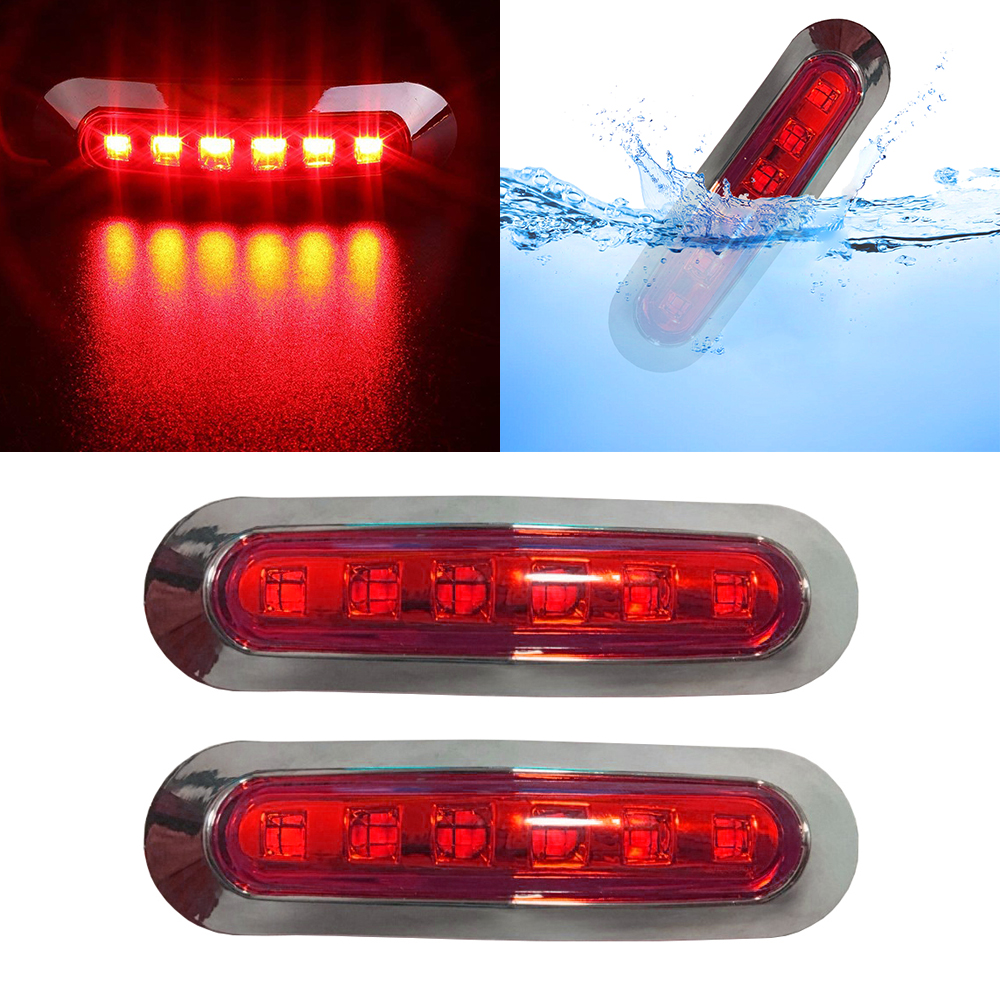 LED Side Marker Light Lamp Indicator 12V 24V Auto Car Van Lorry Trailer Truck