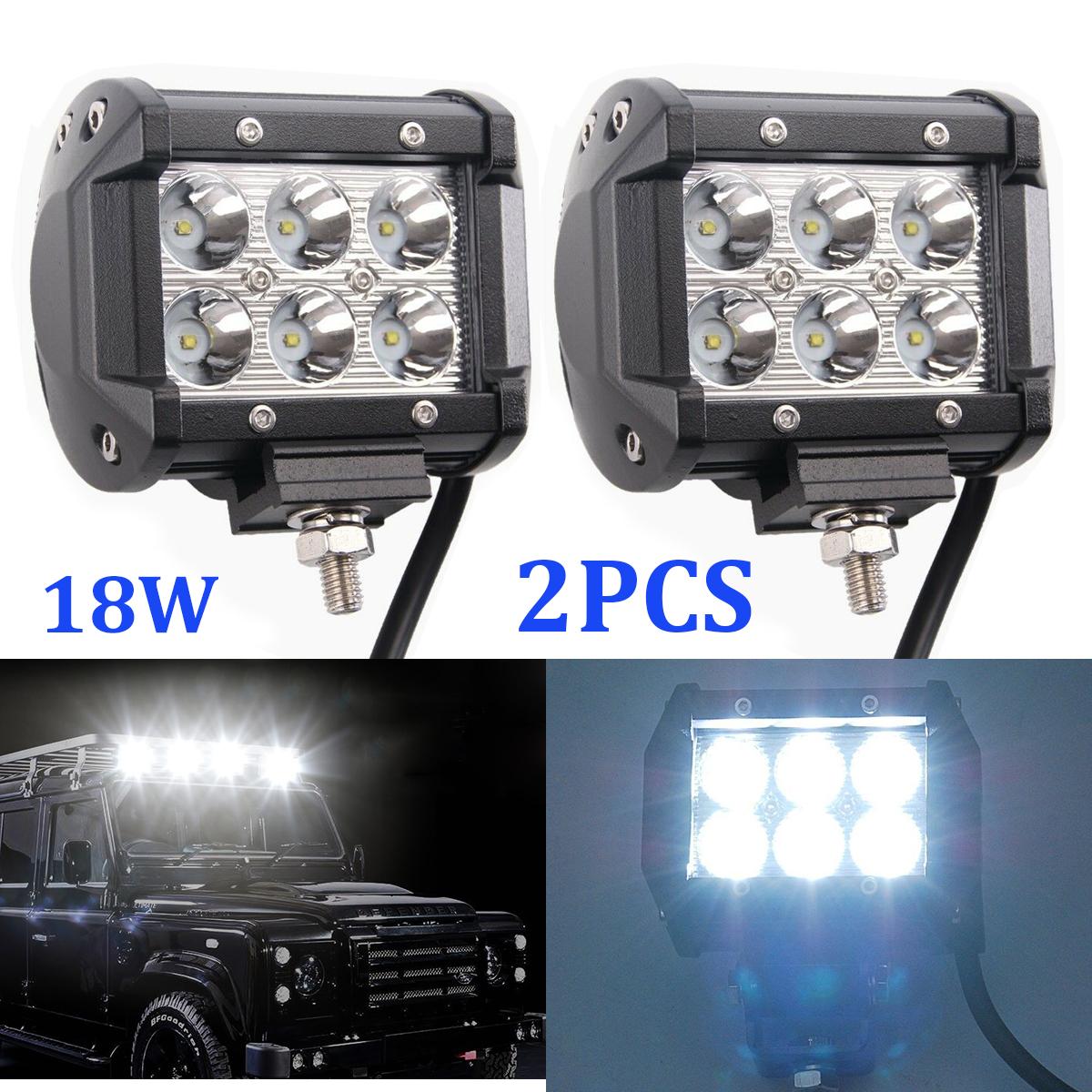10pcs 18W CREE LED Work Light Bar Spot Beam Driving For BOAT SUV UTE Track Lamp