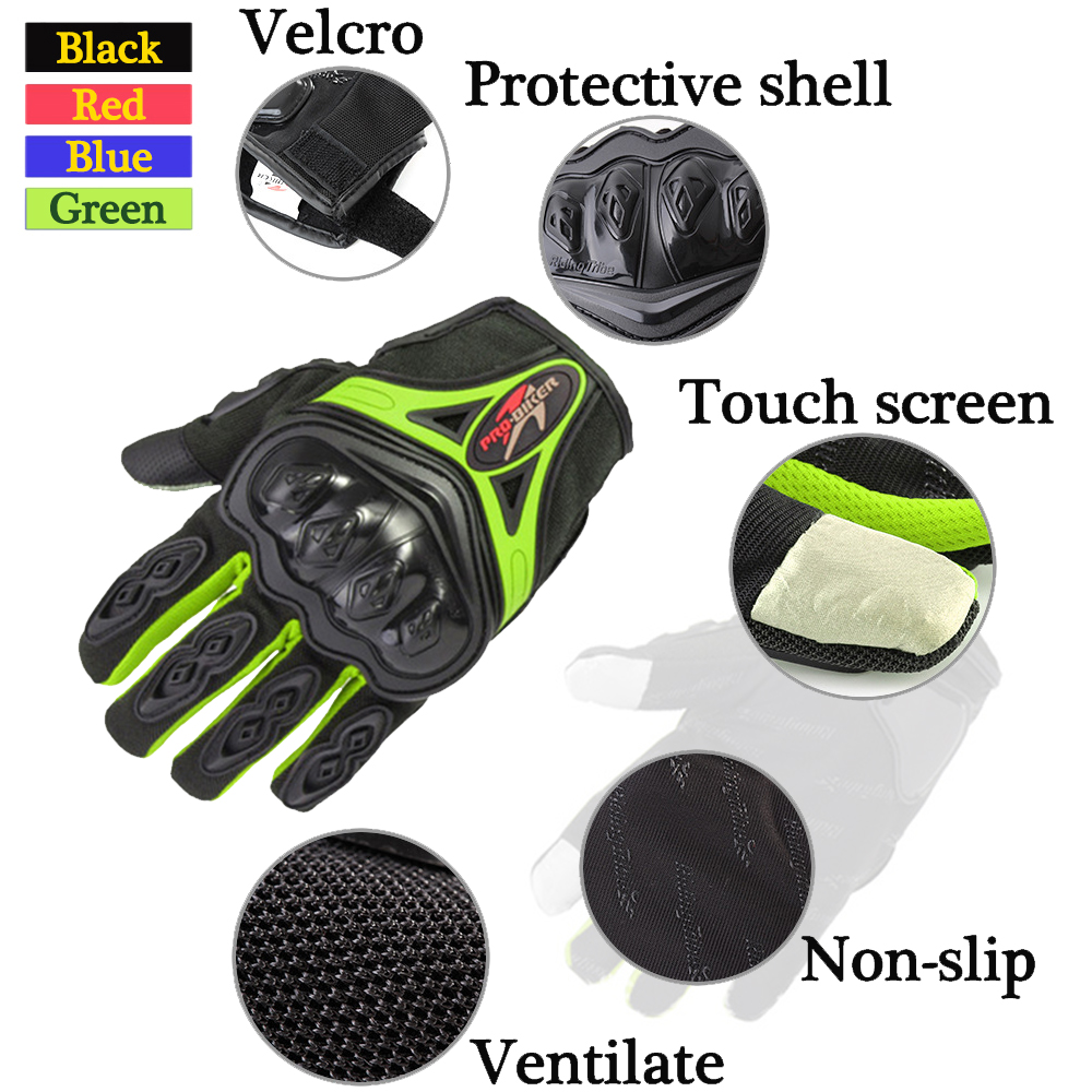 Full Finger Glove Racing Motorcycle Gloves BMX MTB Cycling Bicycle Bike Riding