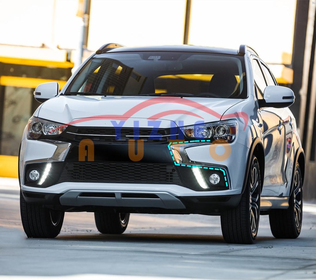 Front Bumper Moulding Trims For Mitsubishi Outlander Sport ASX RVR 2016~2019