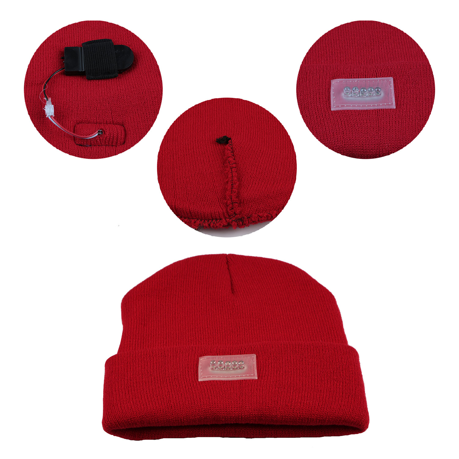 e86daed793a Fashion LED Flashlight Hands Free Knitted Beanie Cap Camping Sports Running  Hat