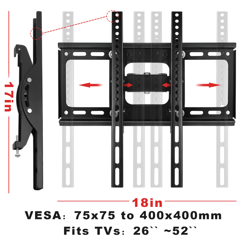 "Universal Mount Tilt Fixed TV Wall Mount Bracket for 32-85/"" Samsung Sony Vizio"