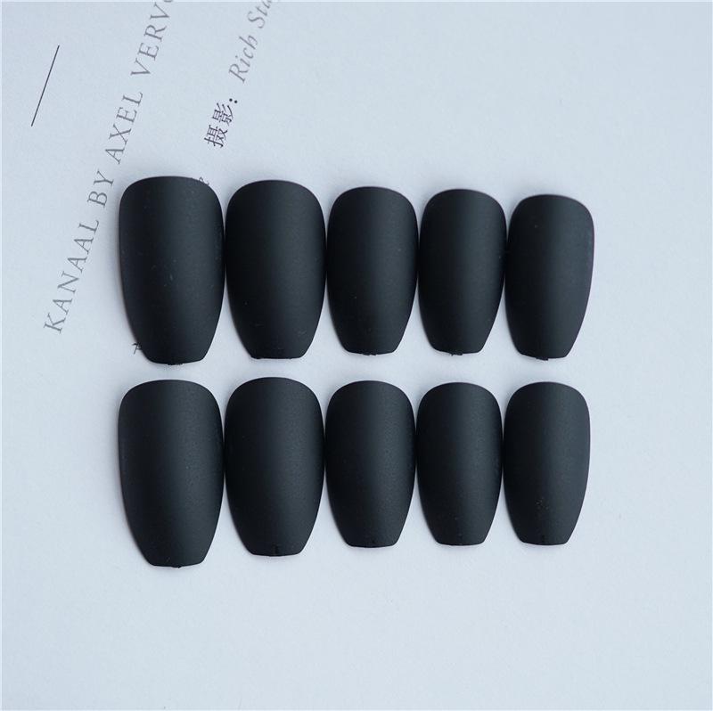 24x-Acrylic-Fake-False-French-Nails-Full-Cover-Nude-Black-Pink-Nail-Tips-Art-DIY thumbnail 9