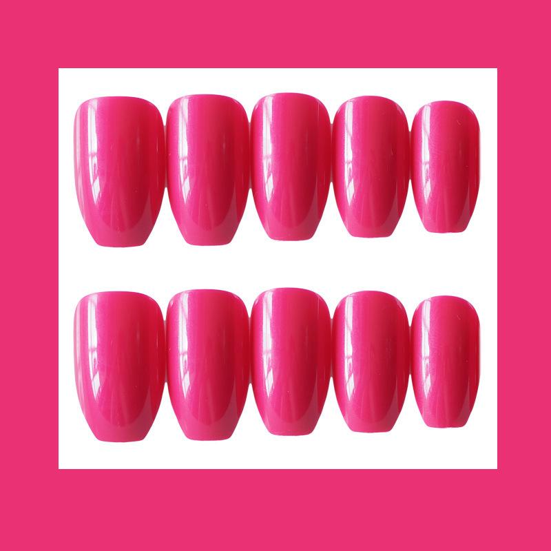 24x-Acrylic-Fake-False-French-Nails-Full-Cover-Nude-Black-Pink-Nail-Tips-Art-DIY thumbnail 17