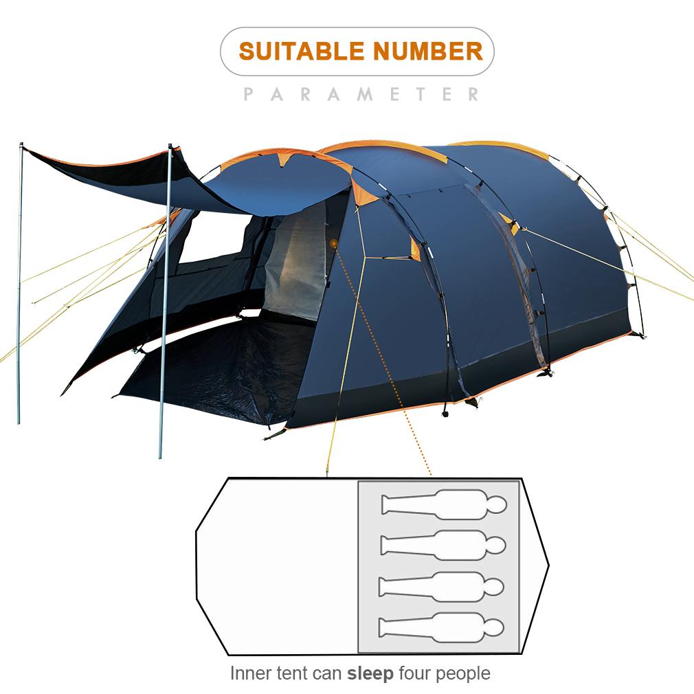 tunnelzelt campingzelt familenzelt f r 4 personen. Black Bedroom Furniture Sets. Home Design Ideas