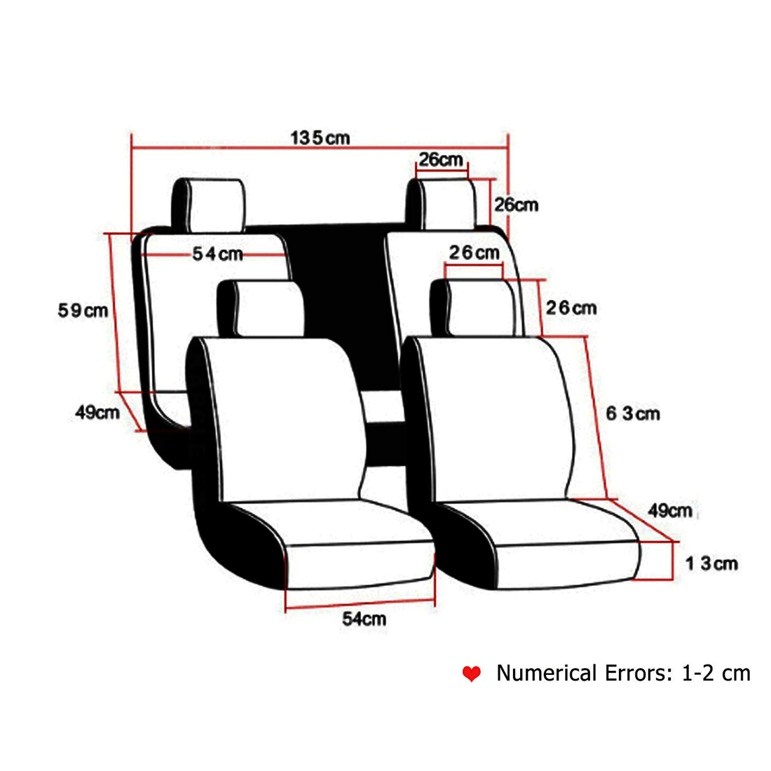 Universal Leather Front Rear Car Interior Accessories Seat