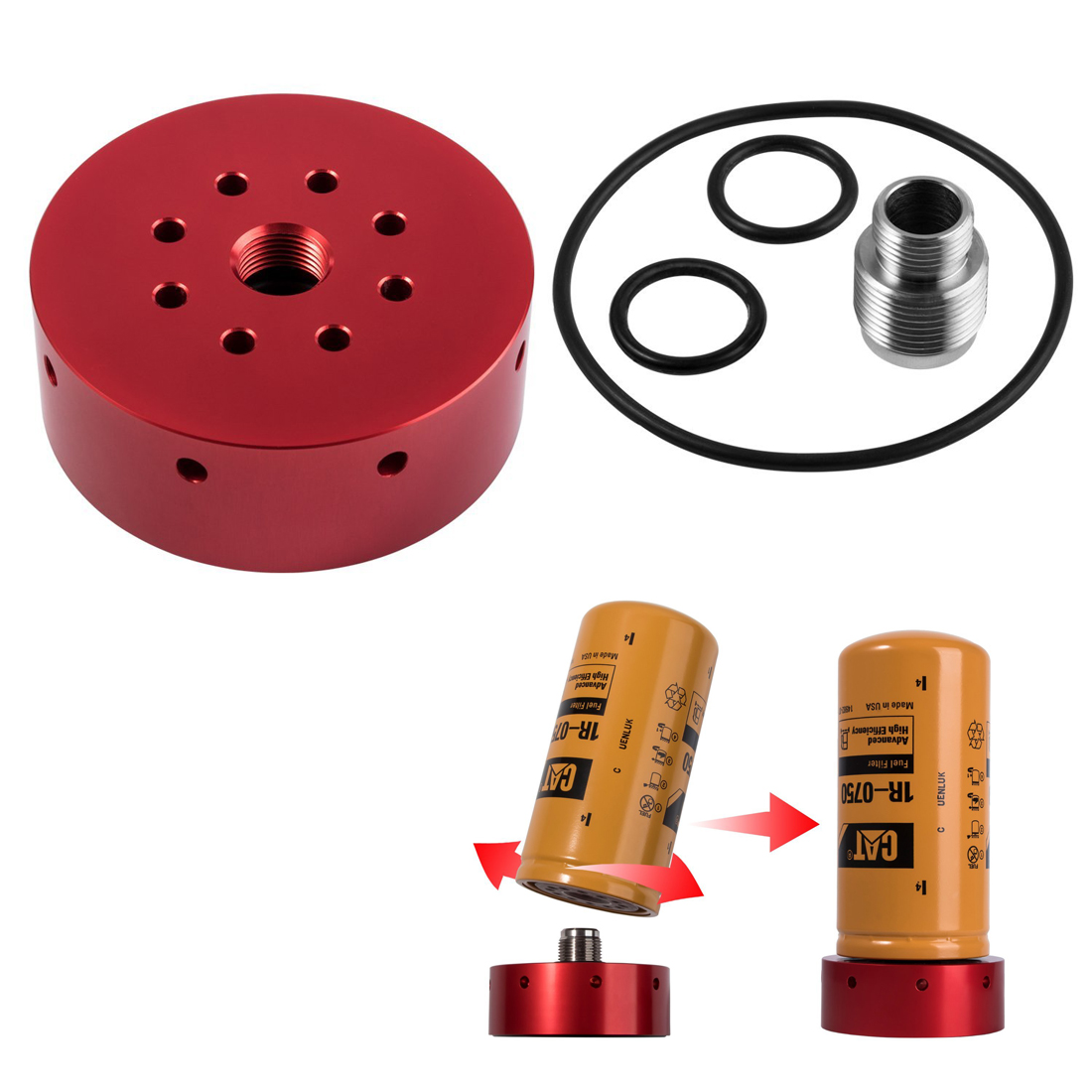 Lly Duramax Fuel Filter Access Wiring Library New Adapter Kit For Chevy Gmc Diesel Lb7 Lbz Lmm Lml