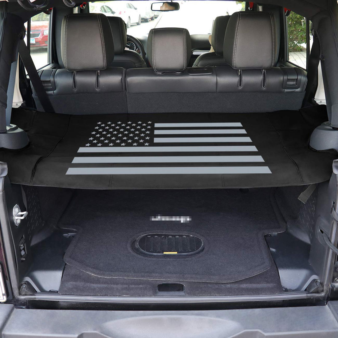 Retractable Rear Trunk Cargo Cover Organizer For Jeep