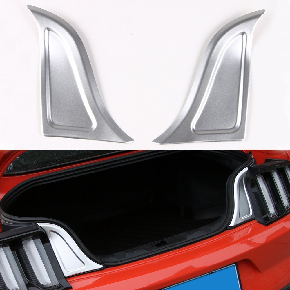 2x Rear Trunk Plate Panel Trim Accessories Cover Door Guard For Ford Mustang #B